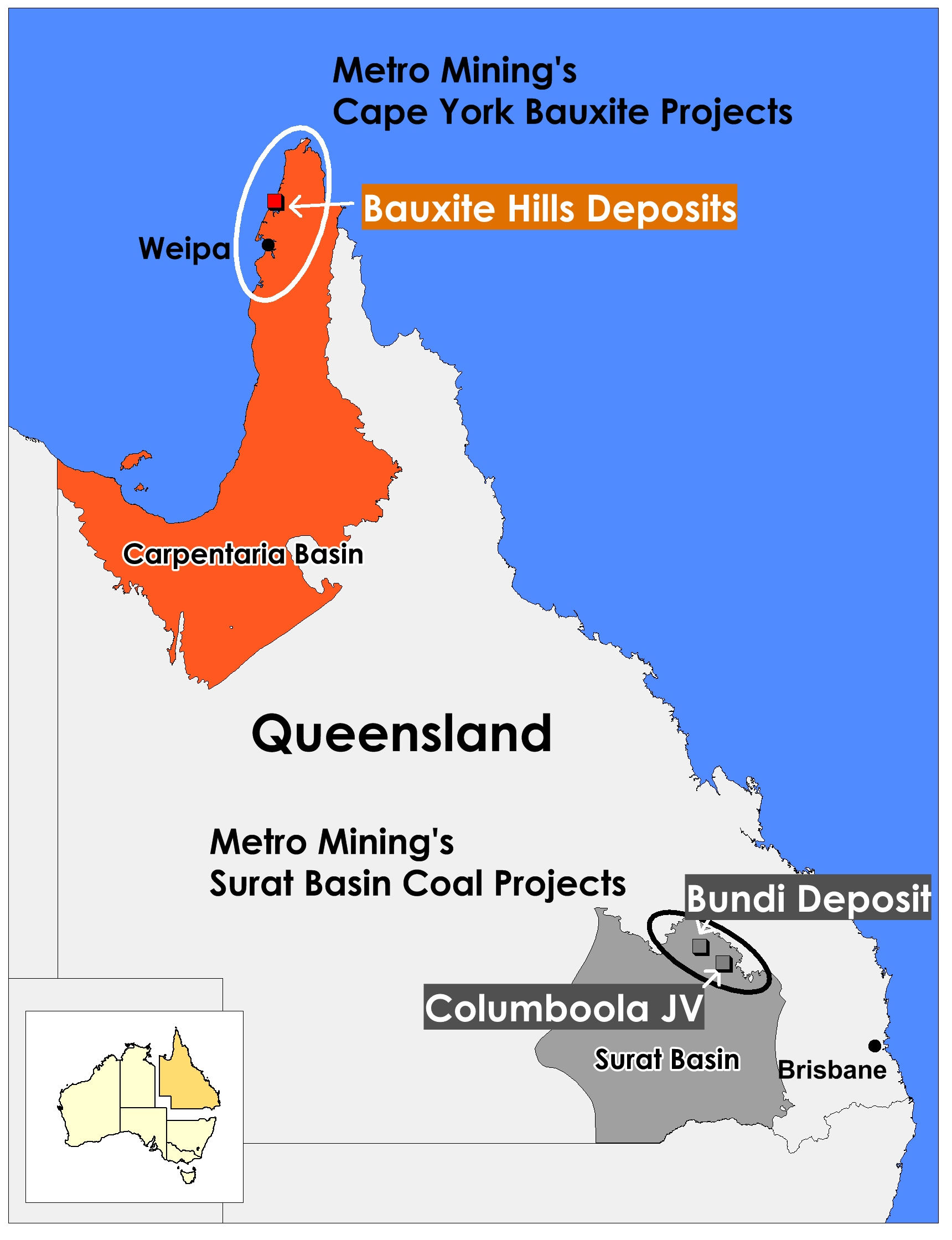 Metro Mining - iMINCO Coal and Bauxite Projects Queensland